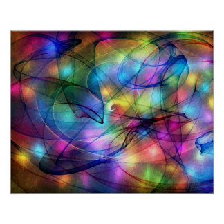 rainbow glowing lights posters