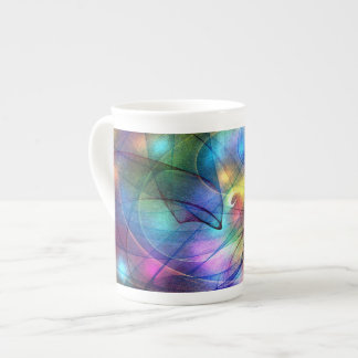 rainbow glowing lights tea cup