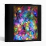 rainbow glowing lights vinyl binders