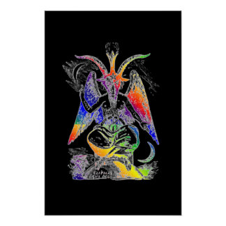 Rainbow {Goat Of Mendes} Baphomet Poster