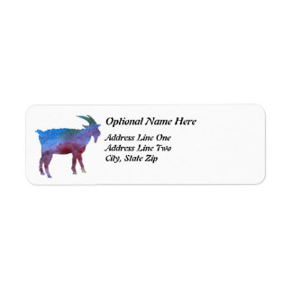 Rainbow Goat with Customizable Text Label