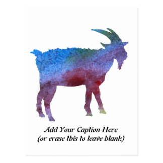 Rainbow Goat with Customizable Text Postcard
