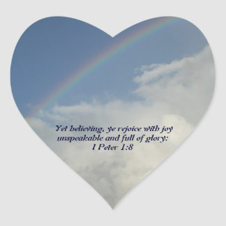 Rainbow, God is for us! Heart Sticker