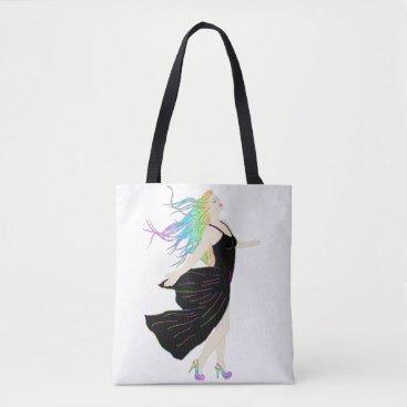 Beach Themed Rainbow Goddess Tote Bag