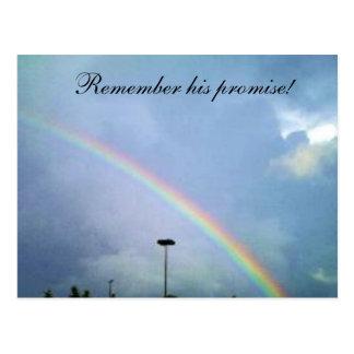 RAINBOW GODS  PROMISE postcard