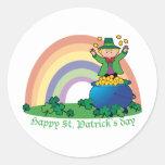 Rainbow Gold Leprechaun Stickers