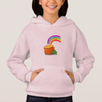 Rainbow Gold Pot Lucky Irish Sky Ireland Colorful Hoodie