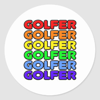 Rainbow Golfer Stickers