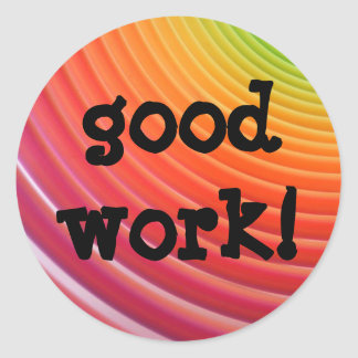 Rainbow good work stickers