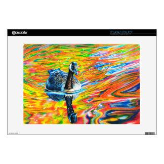"Rainbow Goose 15"" Laptop Skin"