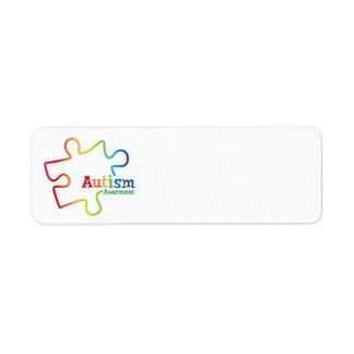 Rainbow Gradient Autism Awareness Labels