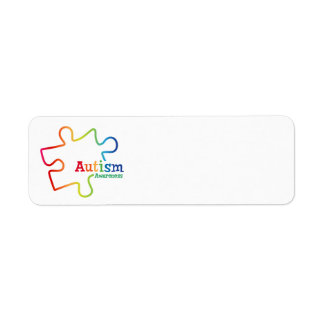 Rainbow Gradient Autism Awareness Labels
