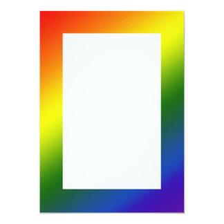 Rainbow Gradient Border Invitation