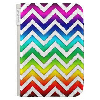 Rainbow Gradient Chevron Kindle 3 Cover