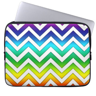 Rainbow Gradient Chevron Laptop Sleeve