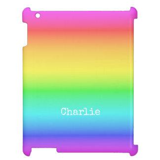Rainbow Gradient custom name device cases iPad Covers