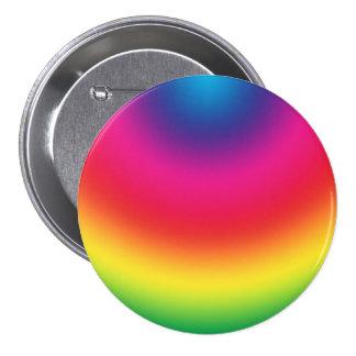 Rainbow Gradient - Customized Rainbows Template 3 Inch Round Button
