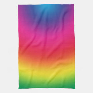 Rainbow Gradient - Customized Rainbows Template Towels