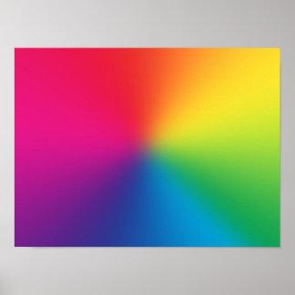Rainbow Gradient Customized Template - Rainbows Posters