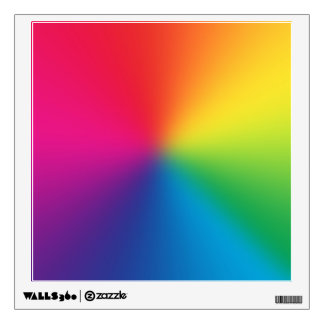 Rainbow Gradient Customized Template - Rainbows Wall Sticker