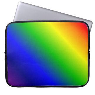 Rainbow Gradient Diagonal Computer Sleeve