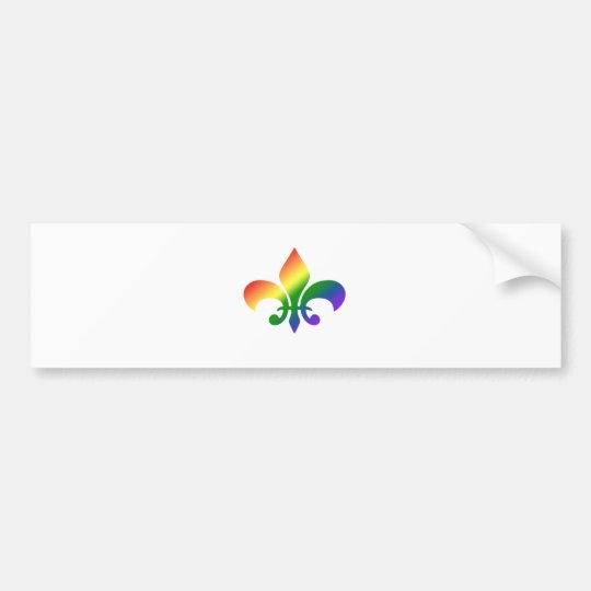 Rainbow Gradient Fleur de Lis Bumper Sticker
