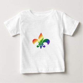 Rainbow Gradient Fleur de Lis Infant T-shirt