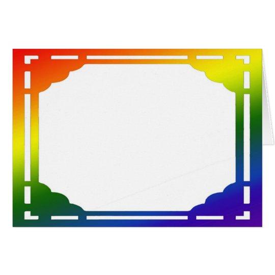 Rainbow Gradient Frame Note Card