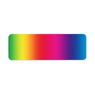 Rainbow Gradient Label