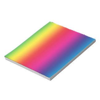 Rainbow Gradient Notepad