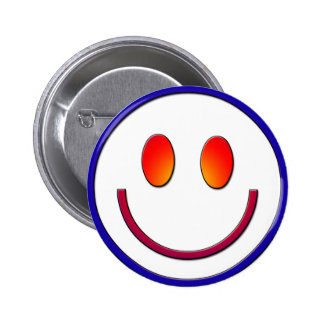 Rainbow Gradient Smiley Face Pinback Button