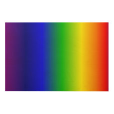 Rainbow Gradient Vertical Wood Wall Decor