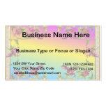 Rainbow gradient with purple flower fleur di lies business card template