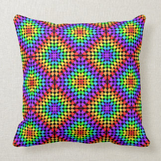 Rainbow Granny Square Pillow