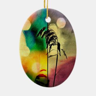 Rainbow Grass Drama Ceramic Ornament