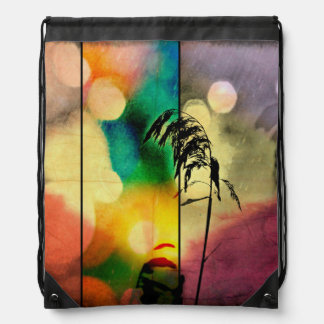 Rainbow Grass Drama Drawstring Backpack