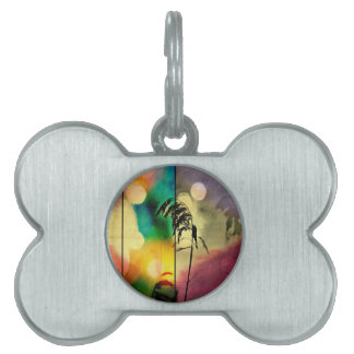 Rainbow Grass Drama Pet Name Tag