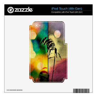 Rainbow Grass Drama Skin For iPod Touch 4G