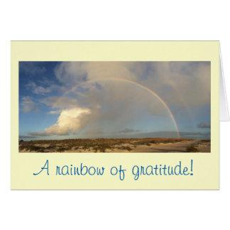 Rainbow gratitude note card