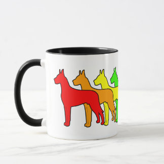 Rainbow Great Dane Mug