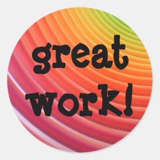 Rainbow GREAT WORK stickers