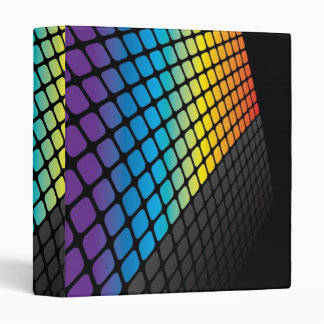 Rainbow Grid Background Binder