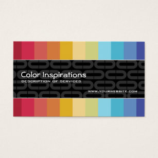 Colour consultant business cards templates zazzle rainbow grid business card reheart Choice Image