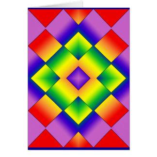 Rainbow Grid Card