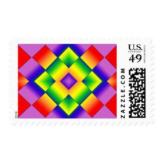 Rainbow Grid Stamps