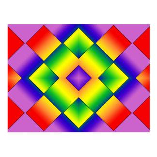 Rainbow Grid Postcard
