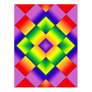 Rainbow Grid Post Cards