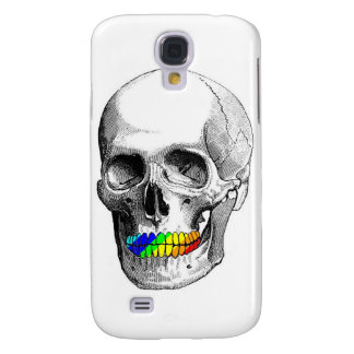 Rainbow Grill Skull Galaxy S4 Cases