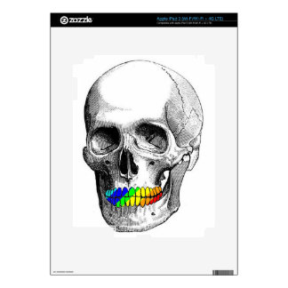 Rainbow Grill Skull iPad 3 Skin