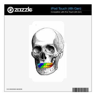 Rainbow Grill Skull iPod Touch 4G Skin